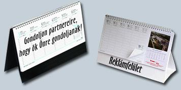 asztali naptár felülnyomás
