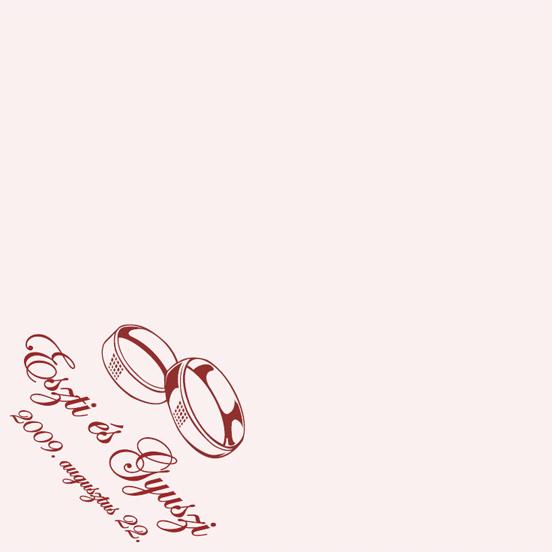 Esküvői szalvéta nyomtatás