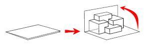 Geometriai popup - meglepetés Képeslap vázrajz