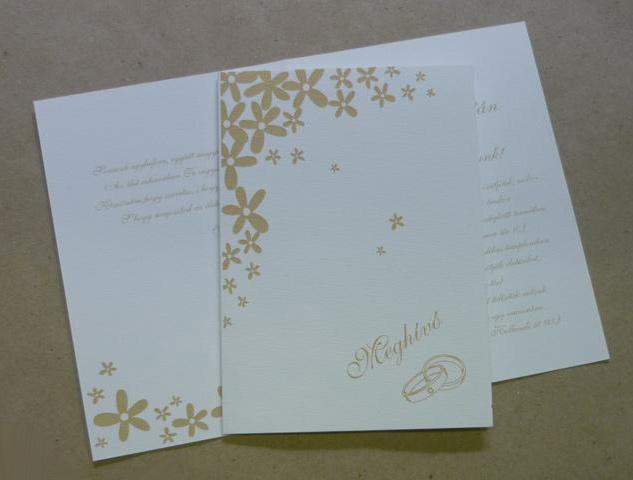 4ea159e8d7e Egyedi esküvői meghívó készítés, Olcsó esküvői meghívó nyomtatás ...