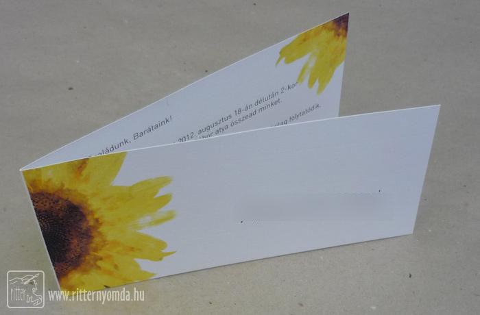 Digitaldruck Hochzeitseinladung   Gefalten, Sonnenblume 0