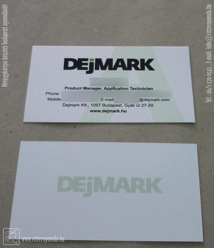 Offset Und Siebdruck Für Visitenkarten