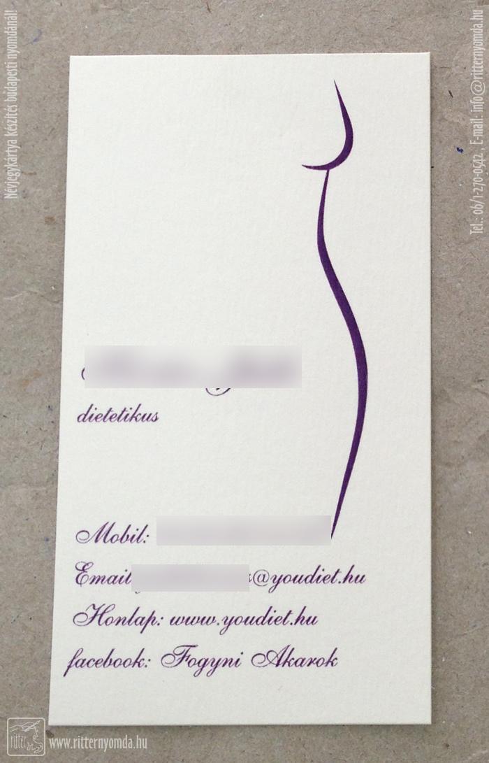 fogyókúra névjegykártyák
