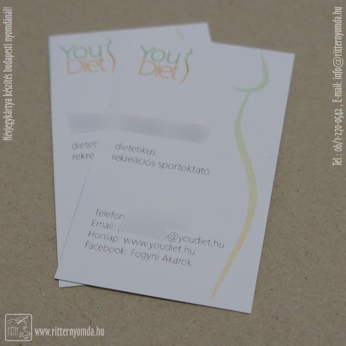 fogyókúra névjegykártyák)