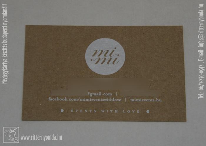 Siebdruck Visitenkarten