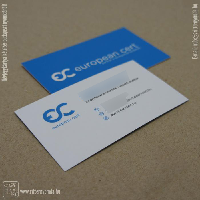 Digital printing business cards
