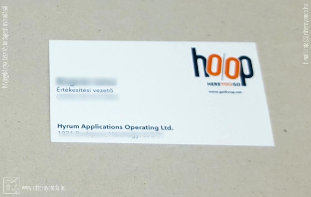 Digital printing business card