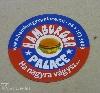 hűtőmágnes, hamburger, gyorsétterem, stancolva