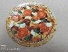 hűtőmágnes, pizza, pizzéria, reklám, kör, kasírozva
