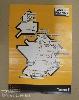 plakát, kerékpár, térkép, francia, a3