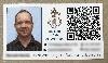 névjegykártya, plébánia, szakreferens, qr-kód, arcképes-névjegykártya